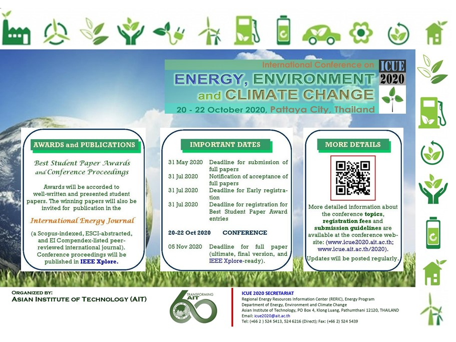 International Conference on Energy, Environment and Climate Change